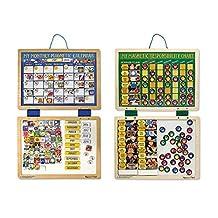 Melissa & Doug Magnetic Calendar/Responsibility Chart Bundle