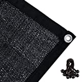 Agfabric 60% Greenhouse Shade Cloth Cover with Grommets 12' X 16', Black
