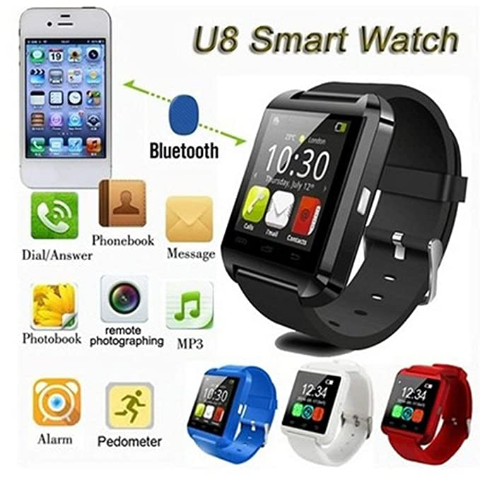 Reloj Inteligente U8 Smart Watch Pasómetro Altímetro Reproductor ...