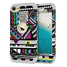 iPod Touch 6 Case,Dailylux iPod Touch 5 Case 3in1 Hybrid Full Body Impact Resistant Shockproof PC Silicone Protective Cover for iPod Touch 5th 6th Generation -labyrinth+Gray