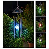Solalite Colour Changing Solar Powered Wind Chime Light