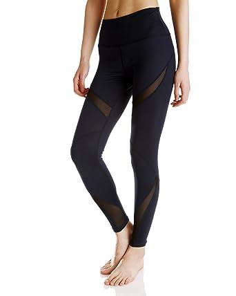 8e91224fca5db Pink Girl Women's Yoga Workout Pants Patchwork Fishnet Leggings (Small)