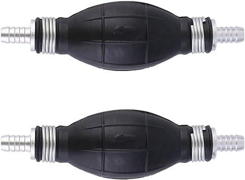 Muzuzi Kraftstoffpumpe Handprimer Gas Benzinpumpen Gummi Und Aluminium Manuell Einweg 10mm 2pcs Auto