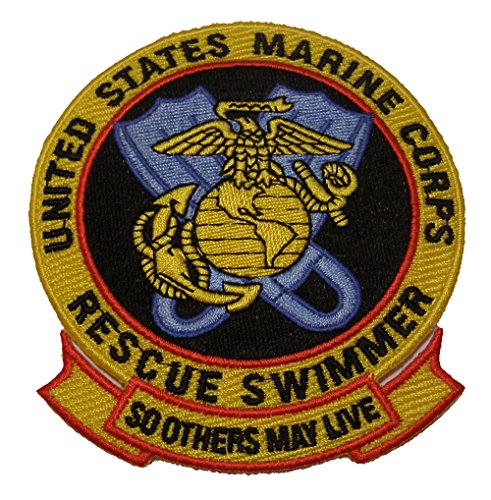 (UNITED STATES MARINE CORPS RESCUE SWIMMER PATCH - Color - Veteran Owned Business.)