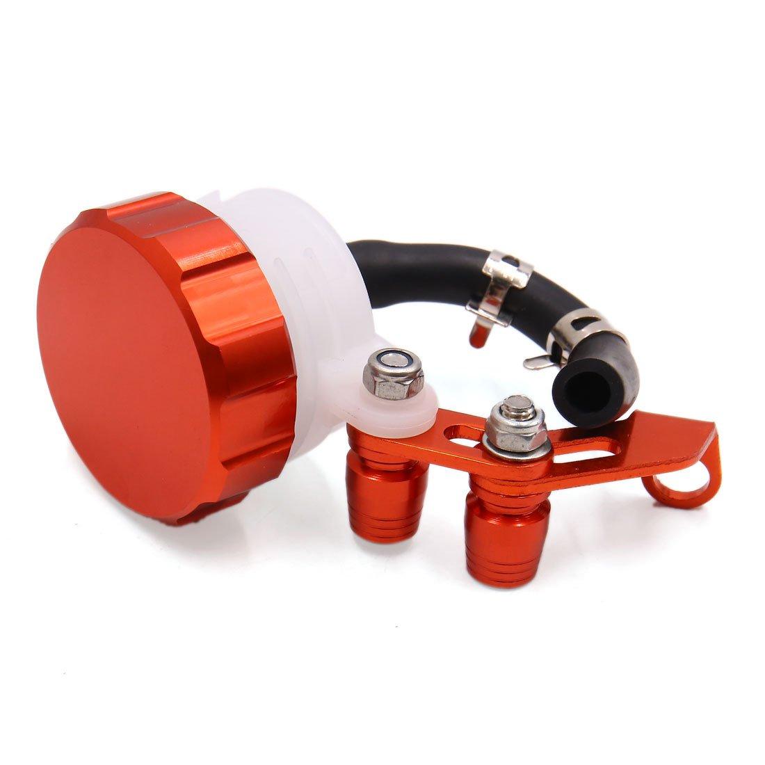 sourcing map Orange CNC Universal Motorrad Vorn Bremskupplung Vorratsbeh/älter Fl/üssigkeit /Öl DE de