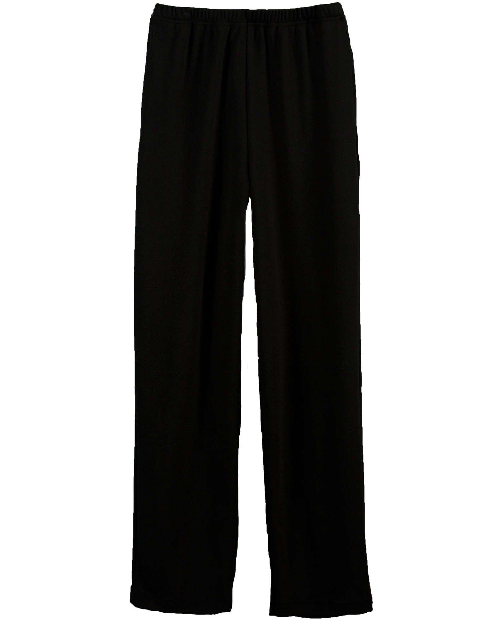 UltraSofts Elastic-Waist Interlock Pull-On Pants, Black, Petite XL