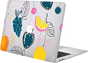 "ACJYX Case for MacBook Pro 13 inch 2020 2019 2018 2017 2016 Release A2289 A2251 A2159 A1989 A1708 A1706 Smooth Plastic Protective Shell with Patterns Laptop Cover for MacBook Pro 13"", Fruit Pattern"