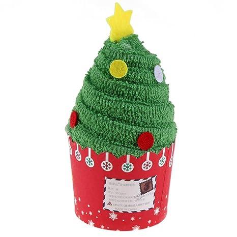 vanpower toallas de algodón de Cupcakes de Navidad de regalos de Navidad 30 x 30 cm