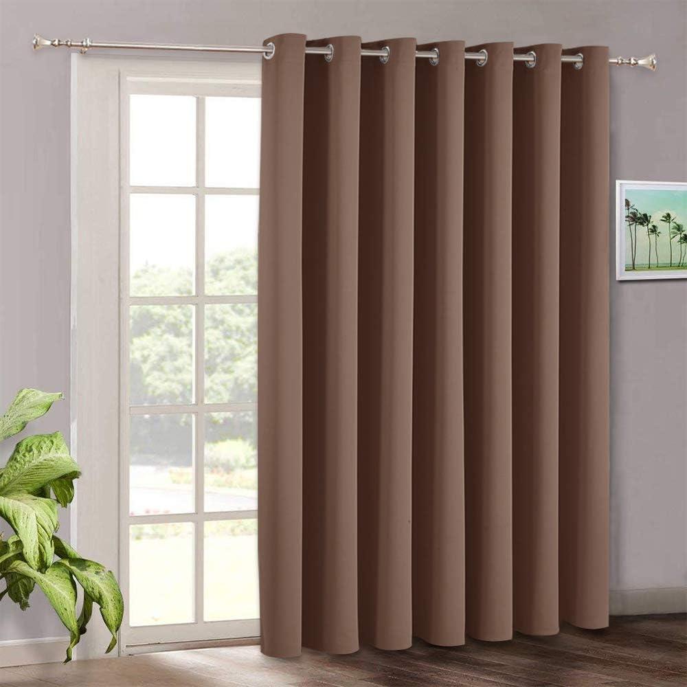 Blackout cortinas para Slide puerta – Ryb Home resistente ruido reducir la luz solar muebles protección anillo de plata parte superior portátil Ventana de la habitación de pantalla: Amazon.es: Hogar