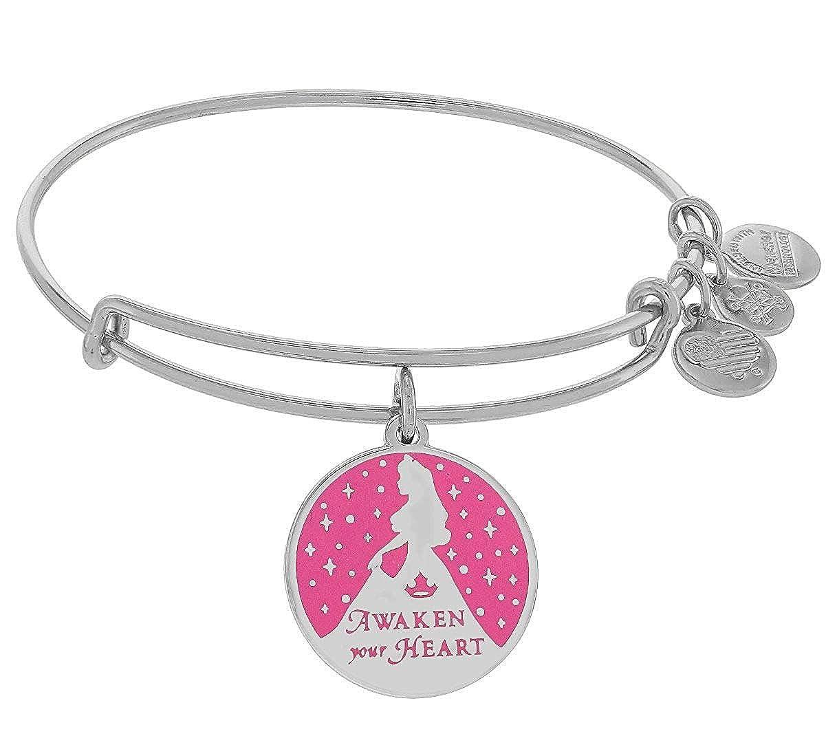 6413bb73c Amazon.com: Alex and Ani Disney Parks Princess Sleeping Beauty Aurora Pink  Enamel Awaken Your Heart (Rafaelian Gold): Jewelry