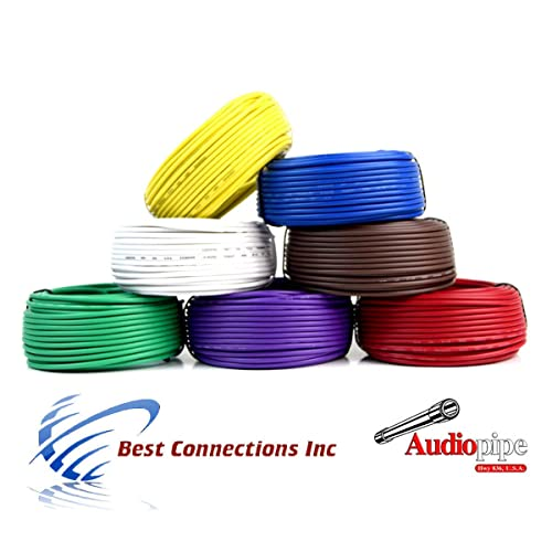 trailer wire harness amazon com trailer light cable wiring harness 50ft spools 14 gauge 7 wire 7 colors