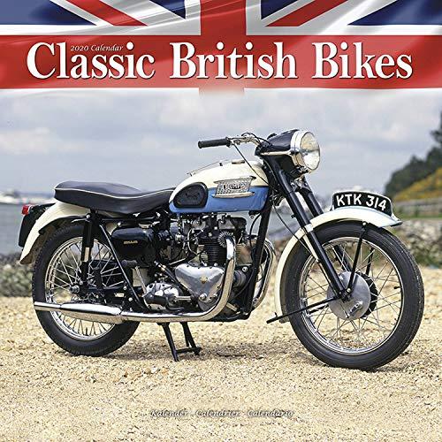 Vintage Motorcycle Calendar - Classic Motorcycle Calendar - Calendars 2019 - 2020 Wall Calendars - Motorcycle Calendar - Classic British Motorbikes 16 Month Wall Calendar by Avonside