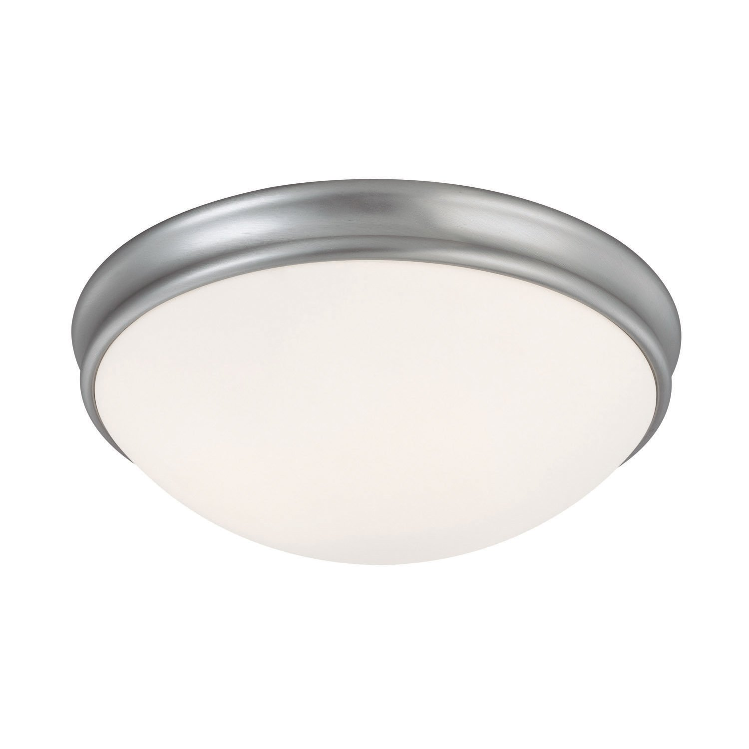 Capital Lighting 2034MN Flush Mount with White Glass Shades, Matte Nickel Finish