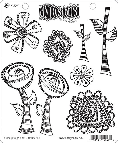 Ranger Everything's Rosy Dyan Reaveley's Dylusions Cling Stamp Collections, 8.5''x7'' by Ranger