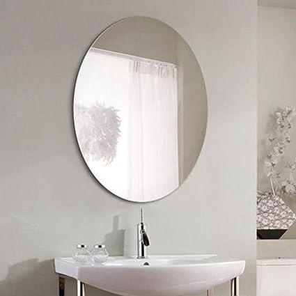 LEI ZE JUN UK- Specchio da bagno semplice Specchio ovale da parete ...