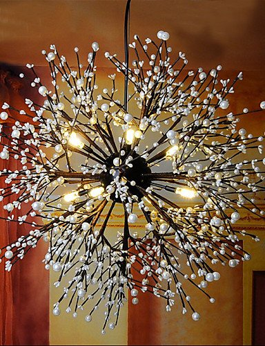 Wrought iron chandelier,Glass lighting,LED pendant lamp,Crystal pendant lamp,colored pendant luminairesThe Metal Bar Iron lamp Single Head Coffee Pot Chandelier , warm white-220-240V