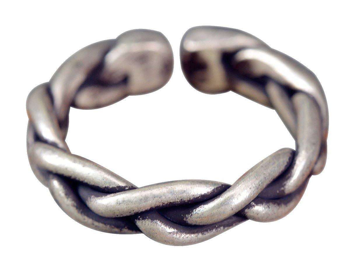 NicoWerk Silberring Gewebt Geflochtet Draht Vintage Ring Silber 925 ...