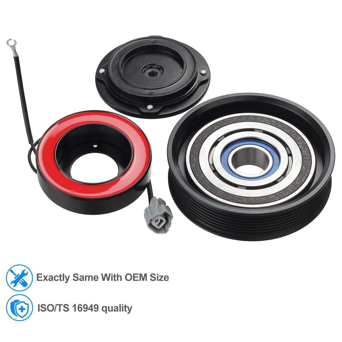 Ca a/c compresor embrague Kit de montaje para 2003 - 2007 Honda Accord 2.4l: Amazon.es: Coche y moto