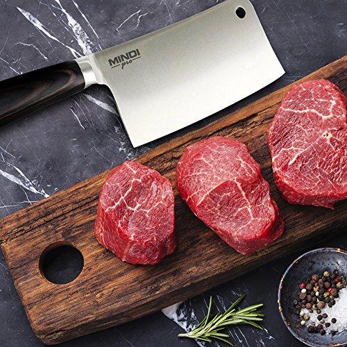 7 Inch Heavy Duty Cleaver - Chopper - Butcher Knife for Home, Kitchen & Restaurant