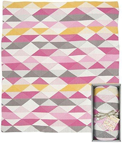 Weegoamigo Knitted Blanket- Geo Pink by Weegoamigo [並行輸入品]   B00ZVCJHPG