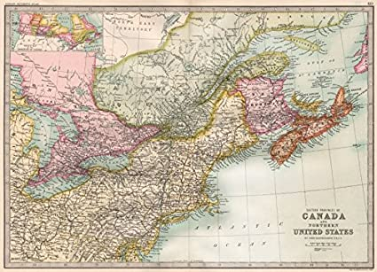 Amazon.com: CANADA/US ATLANTIC COAST. Eastern seaboard ...