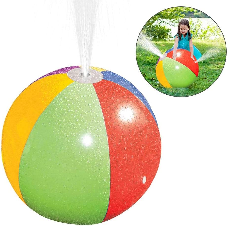 Amazon.com: Beach Ball Sprinkler, Inflatable Spray Beach Ball Non ...