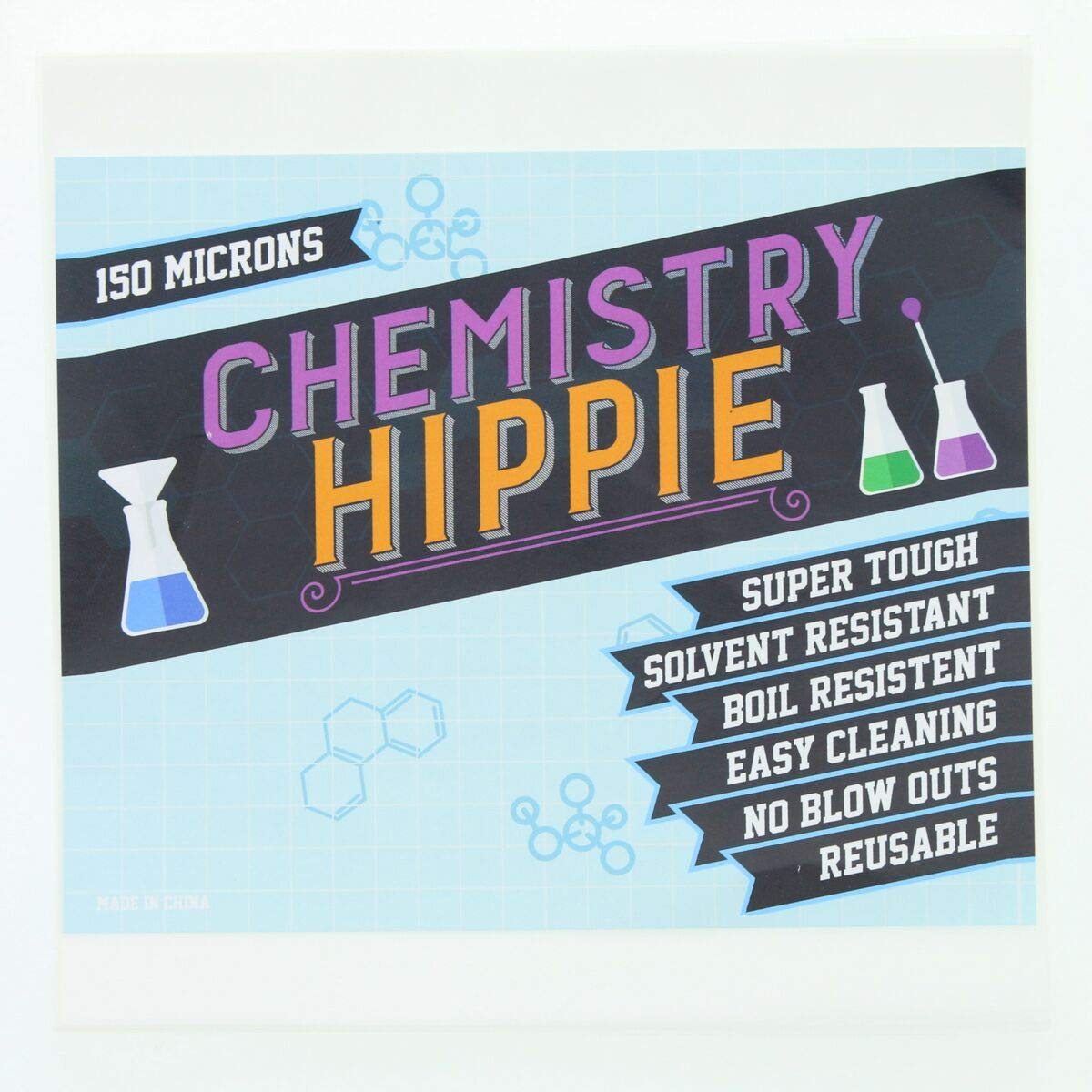 Chemistry Hippie   150 Micron Pressing Screens 6-pack   Essential Oil Concentrate Press Filter   5x5 Inch Screen Sheets