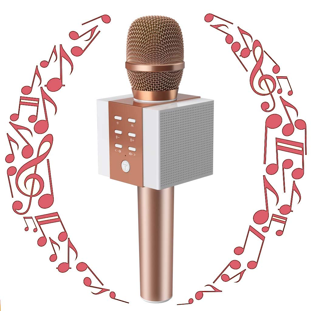 TOSING Wireless Karaoke Microphone, Portable Bluetooth Karaoke Singing Machine with Speaker, Christmas Birthday Home Party for Smartphones,Birthday Gifts and Present Toys for 5 6 7 8 9 Year Old Girls