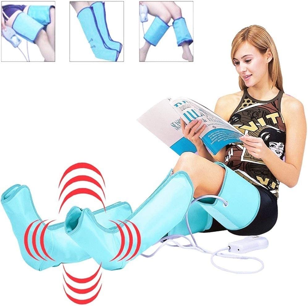 Leg Air Massager, Compression Massage Relax Pain Relief for Feet, Legs, Calves Muscle Relaxation Home and Office Use