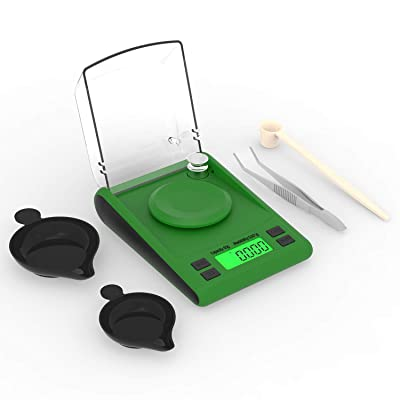 Digital Milligram Scale 50G//.001G Lab Balance Diamond Gold Weighing Pans Lcd