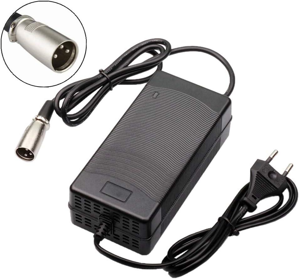 TANGSPOWER 54.6V 3A Bicicleta eléctrica Cargador de batería de Litio de 48V 13Series Paquete de baterías de Litio de 3-Pin XLR Plug