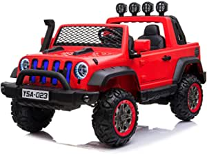 FC-JEEP WRANGLER RECHARGABLE CAR W/REMOTE & 2MOTOR MUSIC & LIGHT 29-023A