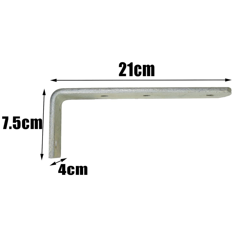 Bracket Heavy Duty 90 Degree Corner Brace Pair TR084 Large AB Tools-Maypole Long Trailer Mudguard Angle