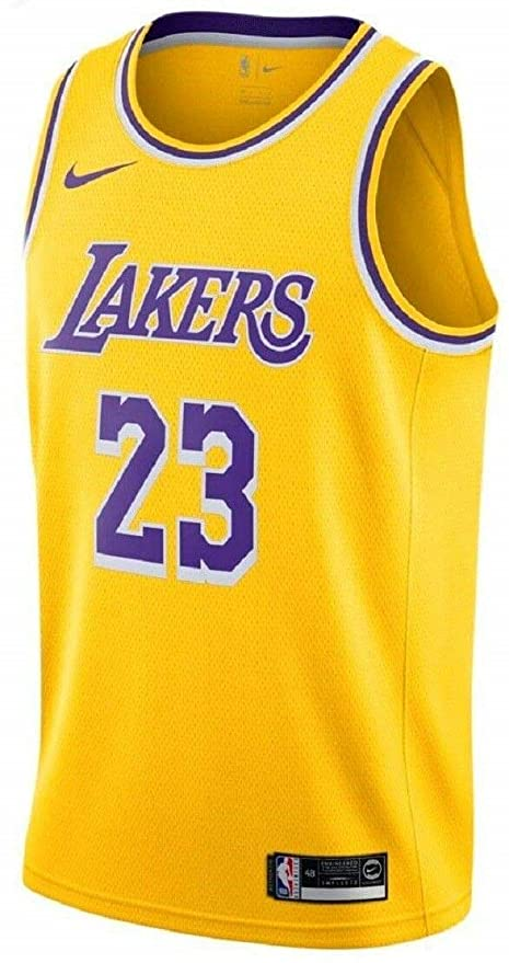 meet 84f8f 08913 Amazon.com   NIKE Men s Los Angeles Lakers Lebron James 2018-19 Icon  Edition Swingman Jersey XX-Large Gold   Sports   Outdoors