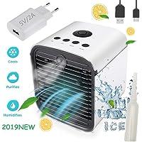 Nifogo Air Mini Cooler Aire Acondicionado Portátil - 3 en 1 Climatizador Evaporativo Frio Ventilador Humidificador Purificador de Aire, Leakproof, Nuevo Filtros