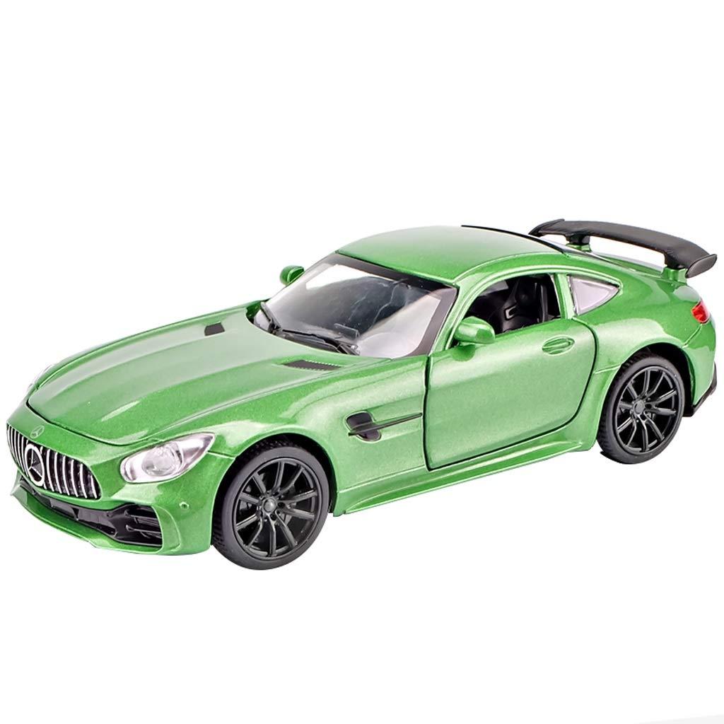 SXET-Auto modello Modello di Auto Mercedes - Mercedes - Mercedes AMG Auto Sportiva Modello in Lega di Auto GTR Ragazzo Regalo Bambini Giocattolo Auto Verde
