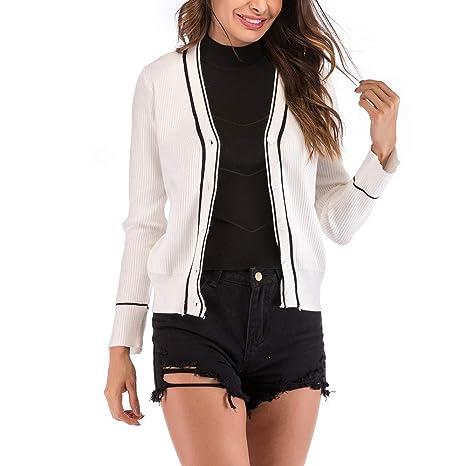 Mujer y Niña Invierno fashion Abajo chaqueta,Sonnena ❤ Cárdigan de punto de rayas