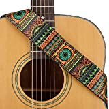 CLOUDMUSIC Guitar Strap Polyester Printing Blue Red Purple Guitar Strap For Kids Guitar Acoustic Guitar Bass Electric (Folk Totem)