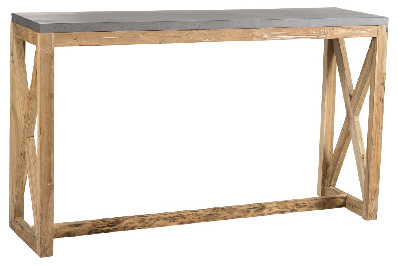Padma's Plantation VAL07 Butlers Tables/TV Trays, Natural with Iron