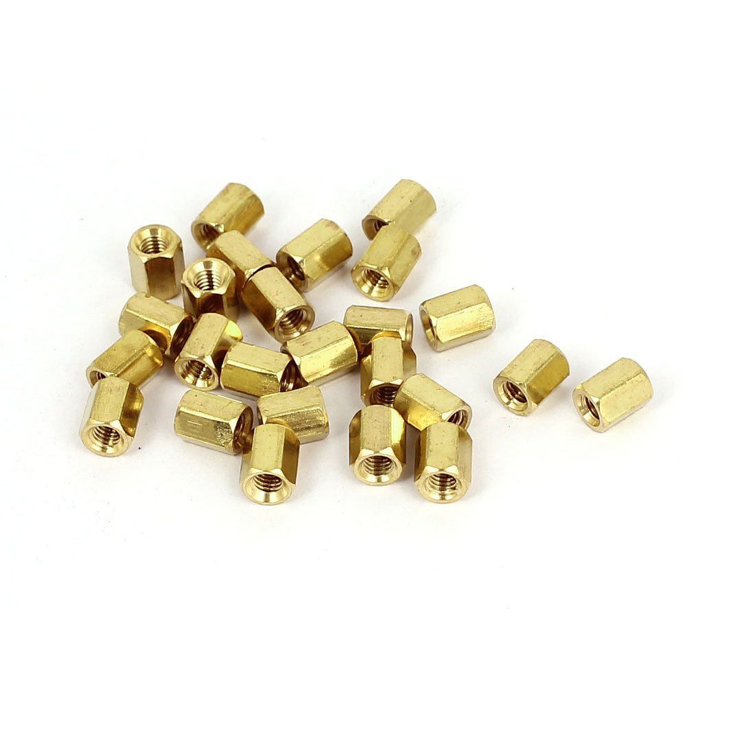 Uxcell a15081800ux0069 Standoff Spacer M3 x 6Mm Female Threaded Brass Hex Standoff Pillar Spacer Nuts 25Pcs