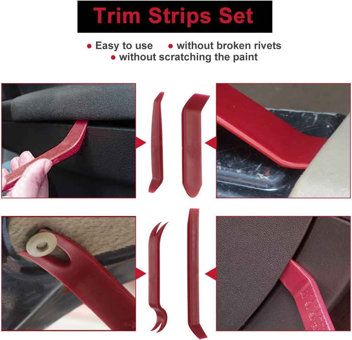 set di staffe e paraurti con pinze di fissaggio Autex da 415 rivetti di fissaggio in plastica per auto