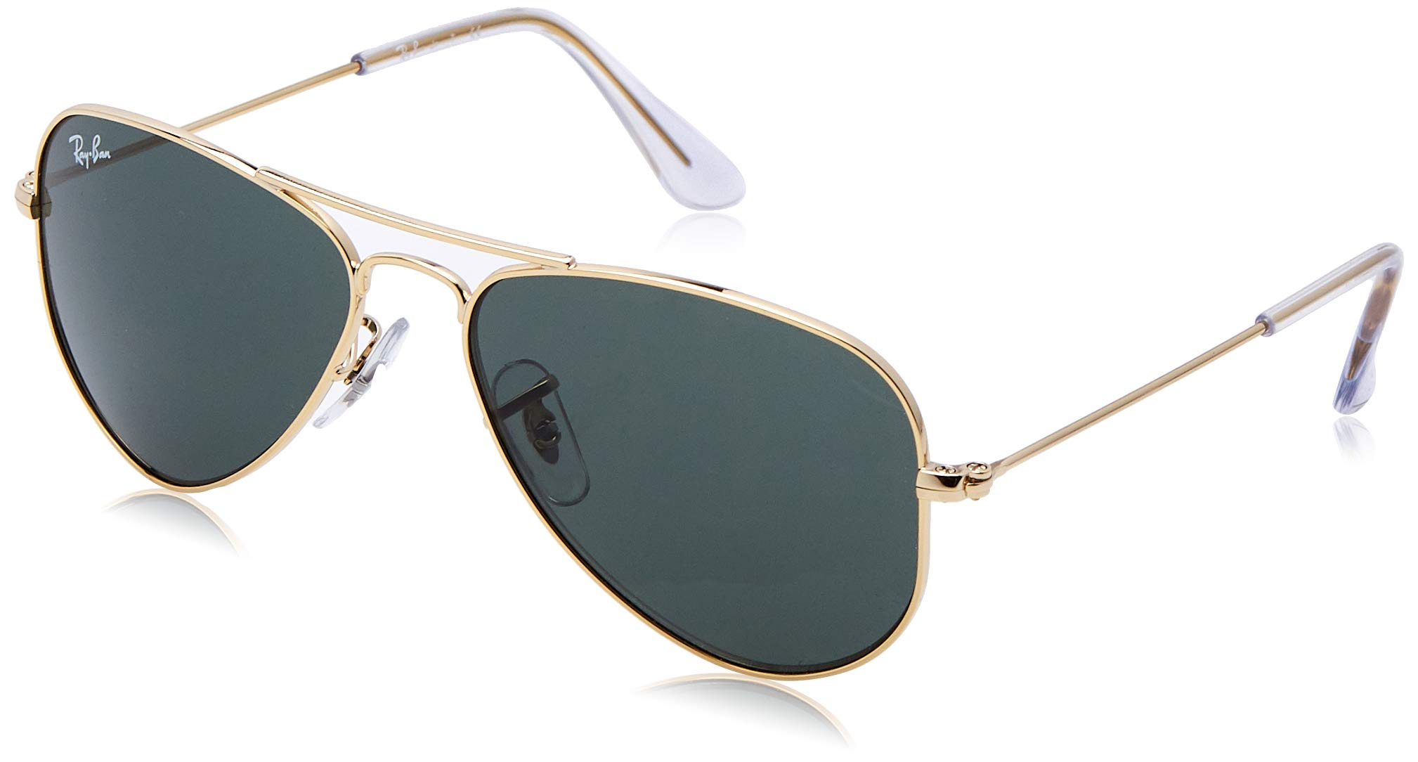 RAY-BAN JUNIOR Kids' RJ9506S Aviator Kids Sunglasses, Gold/Green, 52 mm by RAY-BAN JUNIOR