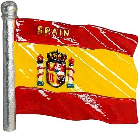 zamonji Bandera de España | 3D Imanes para Refrigerador Imán de Nevera de Resina | Recuerdos de Viaje: Amazon.es: Hogar