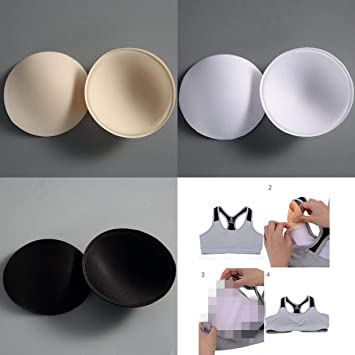 7bbcb92663f WellieSTR 9 Pairs (3 Color) Practical Summer Breast Bra Bikini Inserts  Chest Pad Women