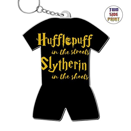 Amazon.com : Keychain Hufflepuff in The Streets Keyring ...