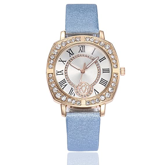 Reloj de cuarzo para mujer, de moda, de piel sintética, bonito reloj de pulsera: Amazon.es: Relojes