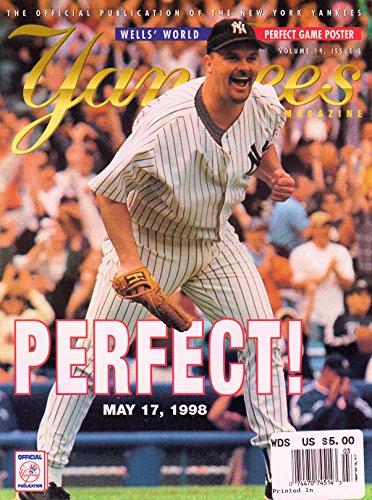 Yankees Magazine, Volume 19, No. 3, June 1998 - David Well' World, Perfect! - Baseball Tim Wood