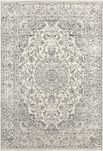 Persian Rug (3212 Distressed Silver 5'2x7'2 Area Rug Carpet Large New)