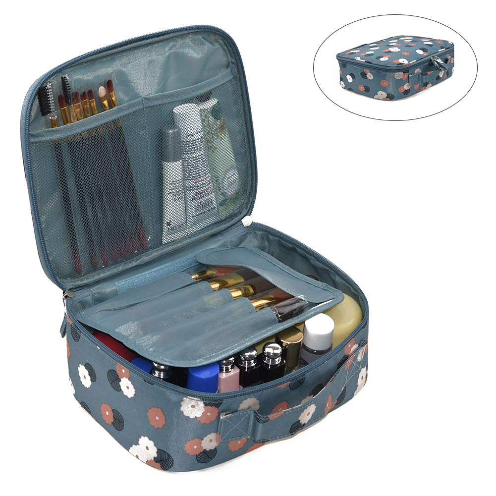 Portable Cosmetic Travel Bags for Women Girls Organizer,Travel Makeup Bags Multifunction Cases Toiletry Bags Multiple Styles Multiple Colors (Blue-A-2)