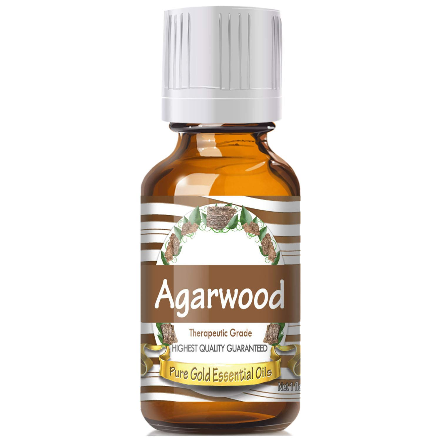 Pure Gold Agarwood Essential Oil, 100% Natural & Undiluted, 30ml by Pure Gold